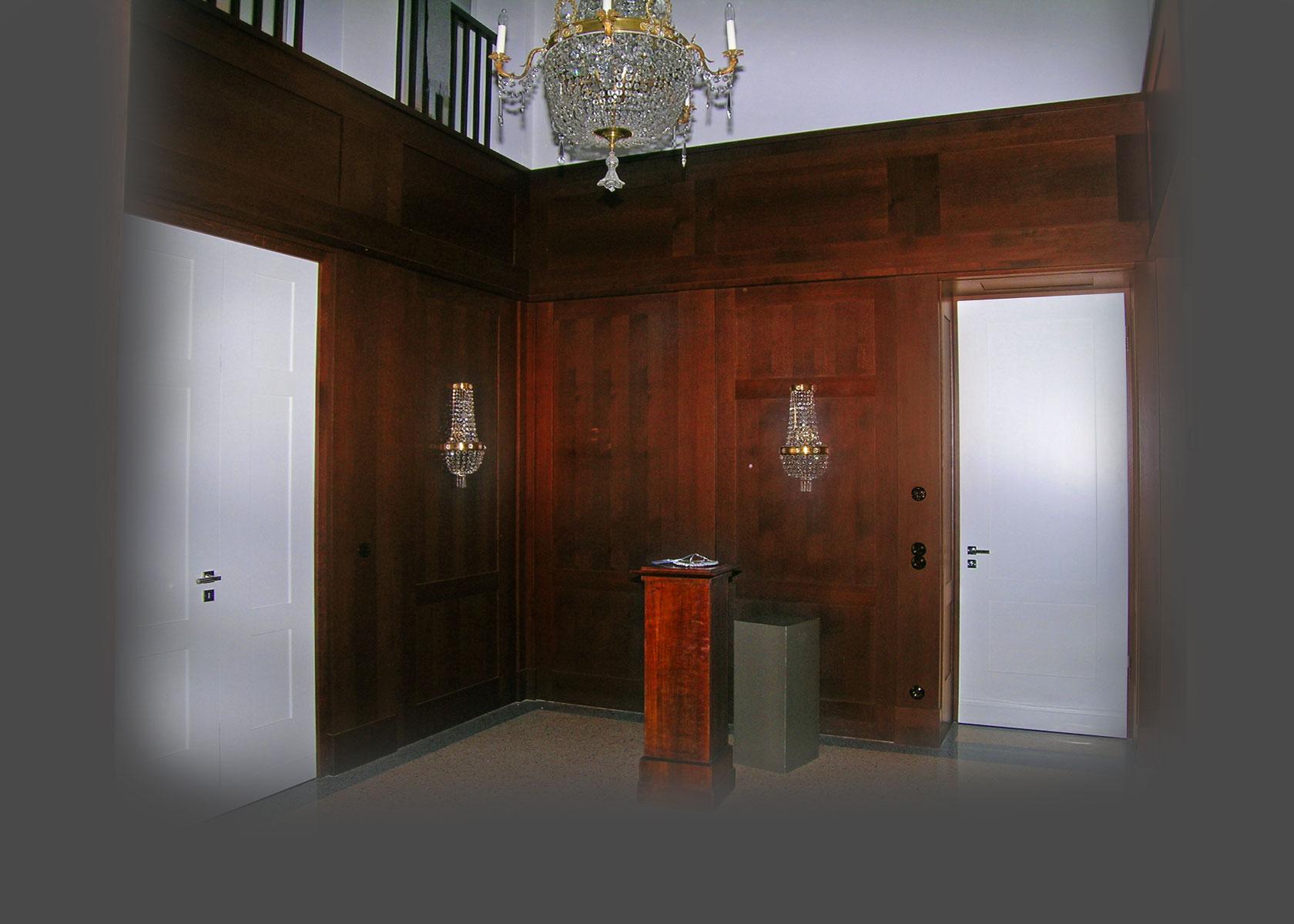 wandverkleidung mit türen, Wohnzimmer